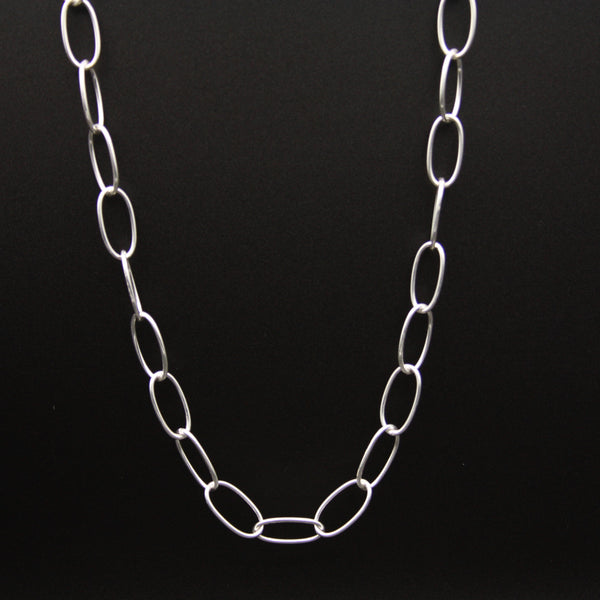 Sterling Silver Chain Link Necklace 20""