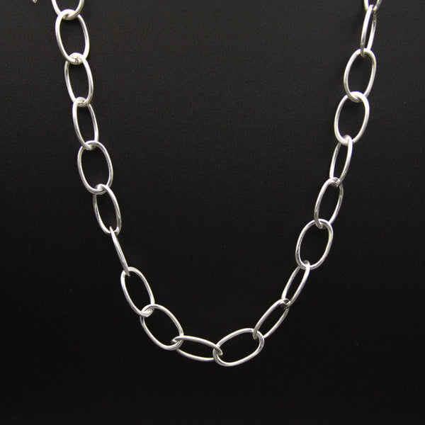 Sterling Silver Large Link Necklace 18""