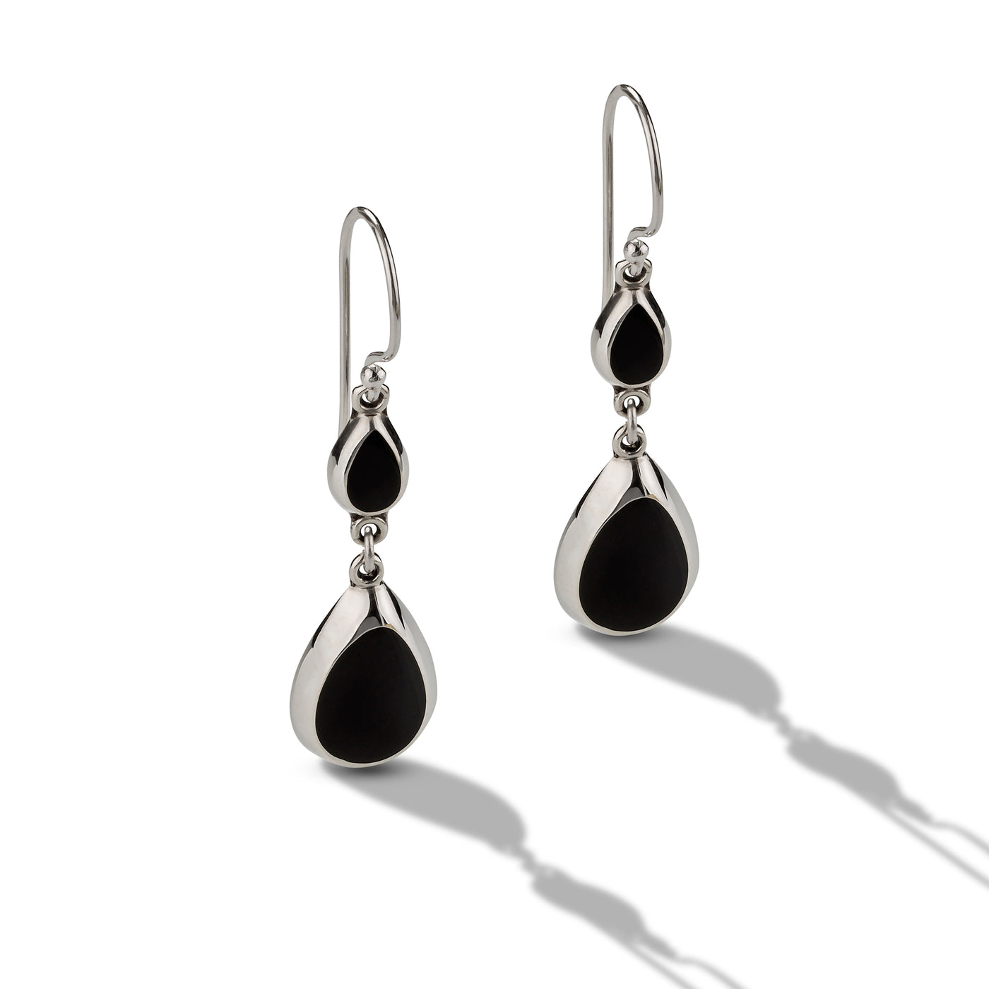 Double Drop Onyx Drop Earrings