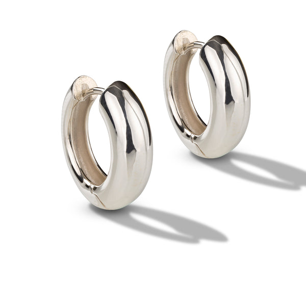 Polished Huggie Hoop Earrings