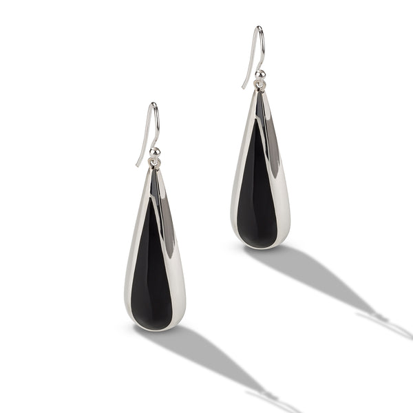 Large Onyx Drop Earrings