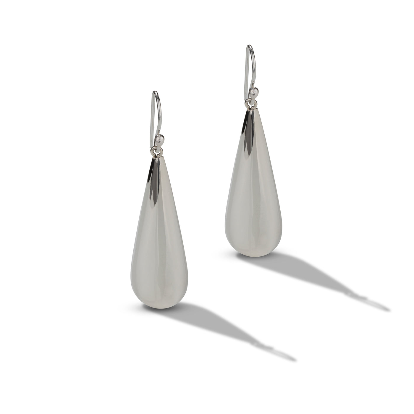 Sterling Silver Large Tear Drop Earrings