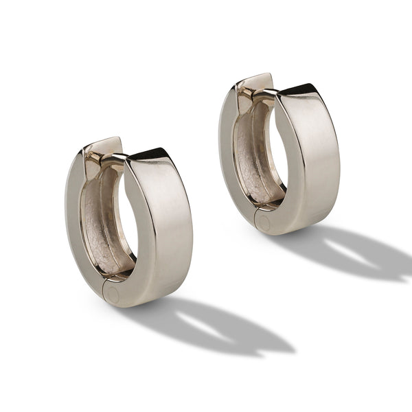Polished Oval Huggie Earrings