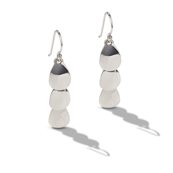 Sterling Silver Tiered Drop Earrings