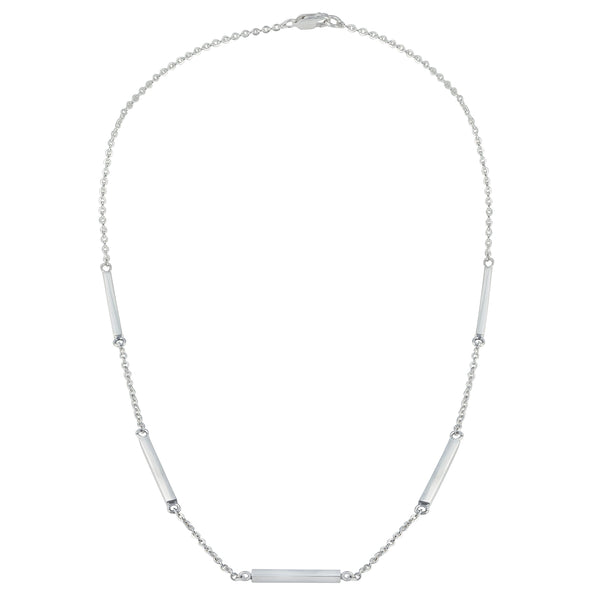 Sterling Silver Bar Link Necklace