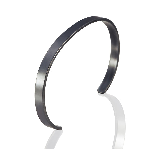 Sterling Silver Blackened Cuff Bracelet