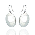 Sterling Silver Hammered Circle Drop Earrings