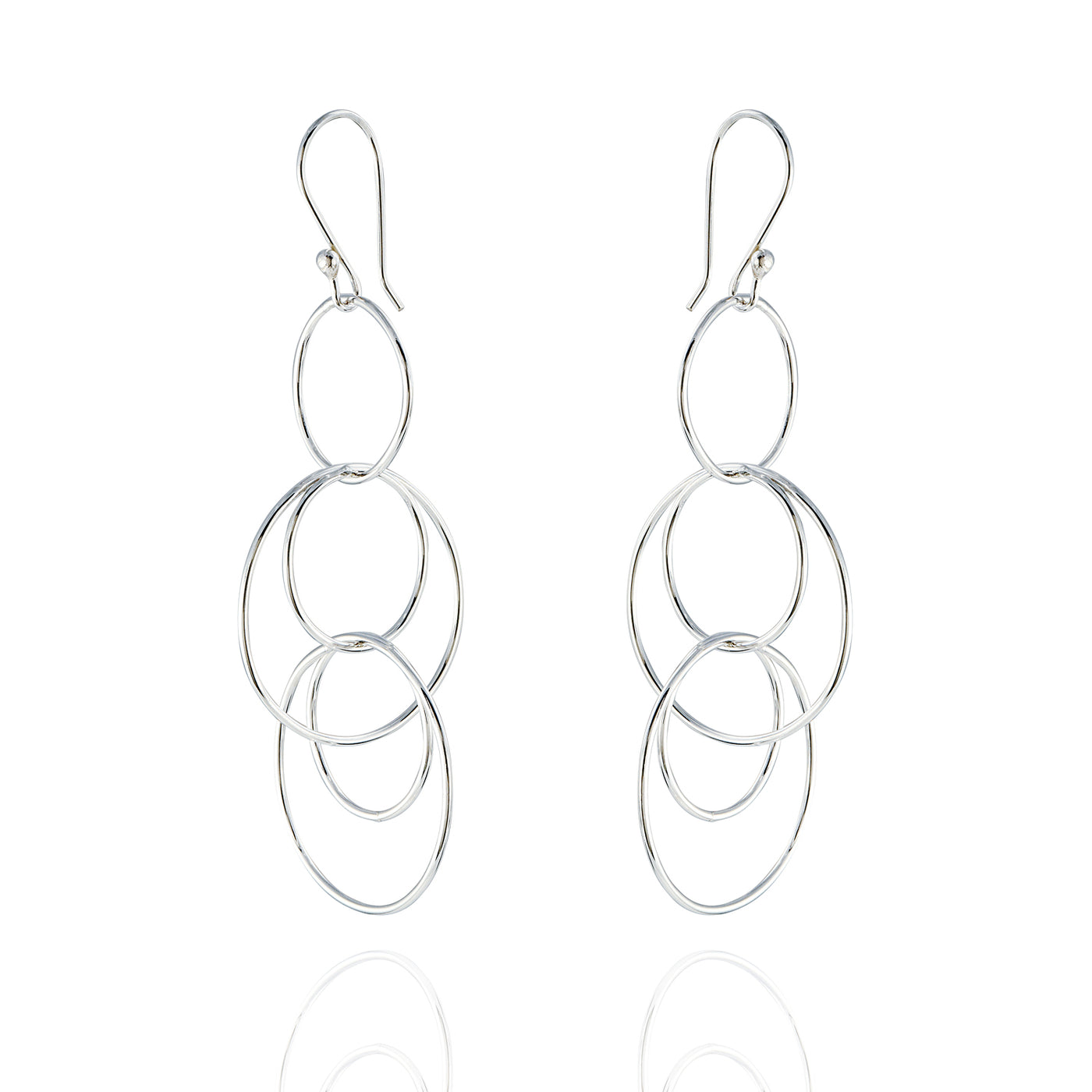 Sterling Silver Multi Link Drop Earrings