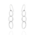 Sterling Silver Linked Drop Earrings