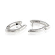 Sterling Silver Wishbone Huggie Earrings