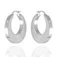 Sterling Silver Bold Circle Hoop Earrings