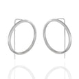 Sterling Silver Circle French Wire Earrings