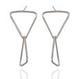 Sterling Silver Double Triangle Post Earrings