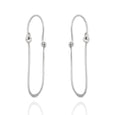 Sterling Silver Swing Hoop Earrings