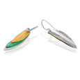 Sterling Silver Tri-Color Drop Earrings