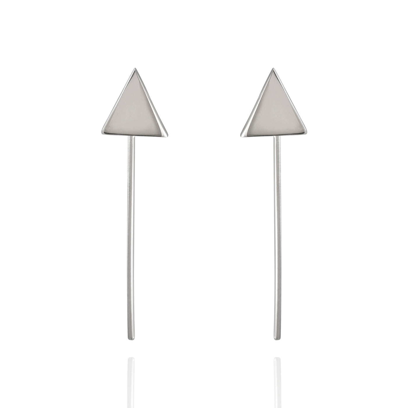 Sterling Silver Triangle French Wire Earrings