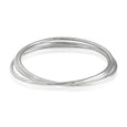 Sterling Silver Triple Connected Bangle Bracelet