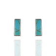 Sterling Silver Turquoise Bar Post Earrings