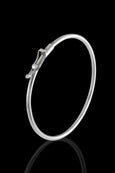 Sterling Silver Bangle Bracelet with Closure