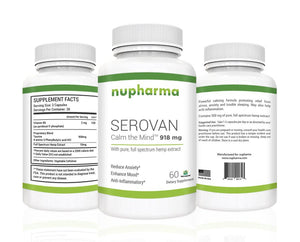 Serovan - 300 mg of Full Spectrum Hemp Extract 60 Count