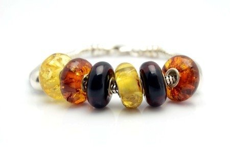 Baltic Amber Pandora Style Bead (ask a color)