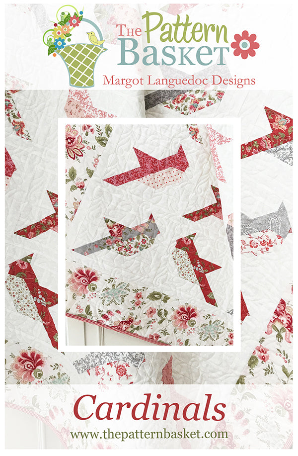 The Pattern Basket Cardinals Quilt Pattern