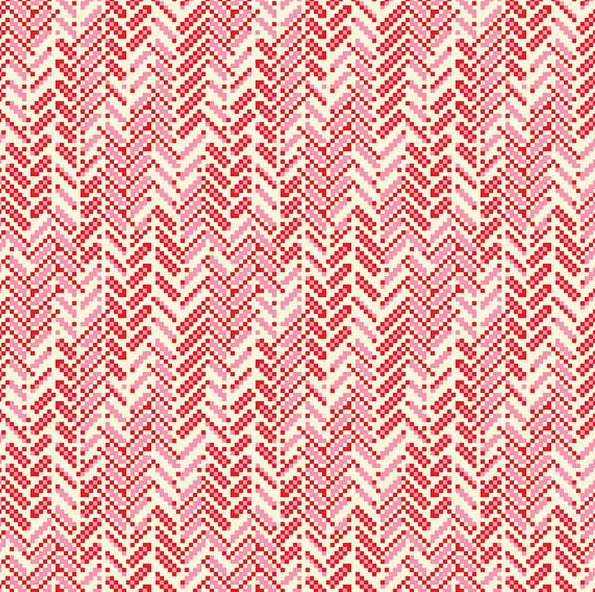 True Kisses Heather Bailey for Figo Fabrics | Geo Chevron Red