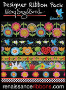 Renaissance Ribbons Mary Engelbreit Blue Bird Designer Jacquard Ribbon Pack