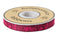 "Burgundy and Pink Meadow Designer Woven Ribbon 5/8"" Wide"