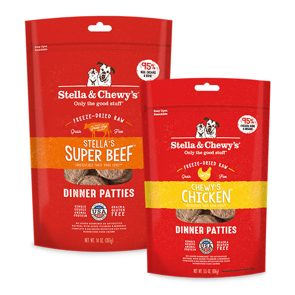 Stella & Chewy's for a quality freeze dried raw diet.