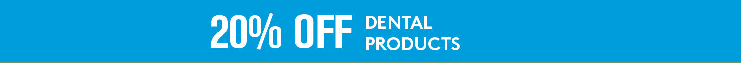 20% off dental products and treats