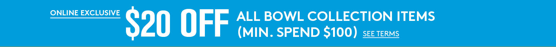 Shop our wellness bowls and get $20 off minimum purchase of $100