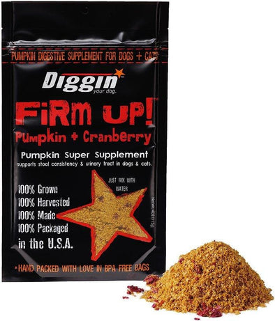 Diggin Your Dog Firm Up Cranberry Digestive Supplement for Dogs