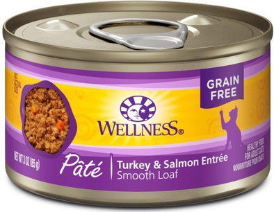 Wellness Complete Health Natural Grain Free Turkey and Salmon Pate Single Wet Canned Cat Food