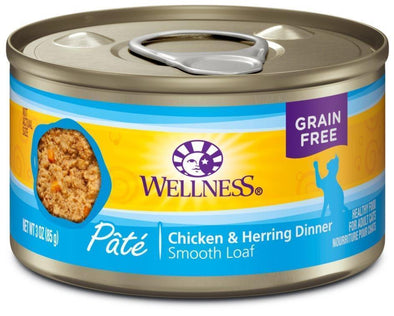 Wellness Complete Health Natural Grain Free Chicken and Herring Pate Single Wet Canned Cat Food