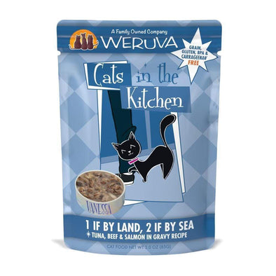 Weruva Cats In the Kitchen 1 If by Land 2 If by Sea Single Pouches Wet Cat Food