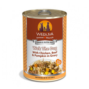 Weruva Wok The Dog with Chicken, Beef & Pumpkin in Gravy Canned Dog Food