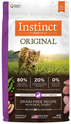Nature's Variety Instinct Original Grain Free Recipe with Real Rabbit Natural Dry Cat Food