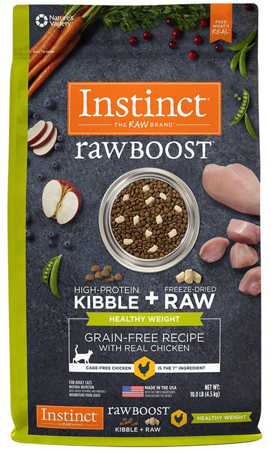 Nature's Variety Instinct Raw Boost Healthy Weight Adult Grain Free Recipe with Real Chicken Natural Dry Cat Food