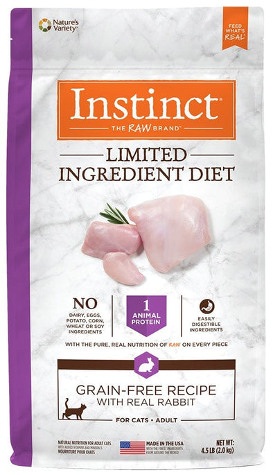 Nature's Variety Instinct Limited Ingredient Diet Adult Grain Free Recipe with Real Rabbit Natural Dry Cat Food