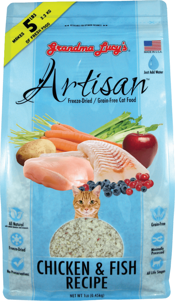 Grandma Lucy's Artisan Grain-Free  Chicken and Fish Freeze-Dried Cat Food