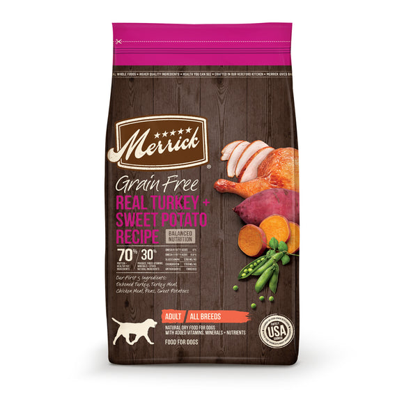 Merrick Grain Free Adult Turkey and Sweet Potato Recipe Dry Dog Food