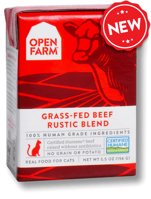 Open Farm Grain Free Grass Fed Beef Recipe Rustic Blend Single Wet Cat Food