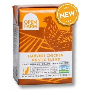 Open Farm Grain Free Harvest Chicken Recipe Rustic Blend Single Wet Cat Food