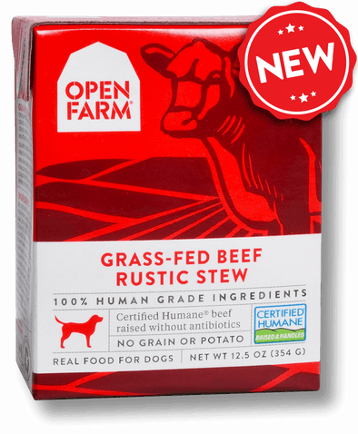 Open Farm Grain Free Grass Fed Beef Recipe Rustic Stew Single Wet Dog Food