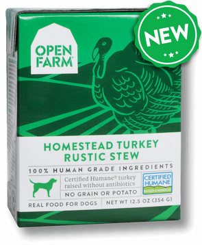 Open Farm Grain Free Homestead Turkey Recipe Rustic Stew Single Wet Dog Food