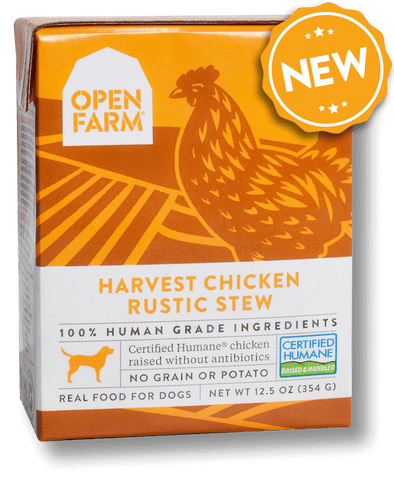 Open Farm Grain Free Harvest Chicken Recipe Rustic Stew Single Wet Dog Food