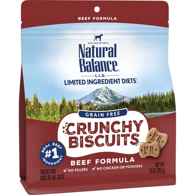 Natural Balance L.I.D. Limited Ingredient Diets Crunchy Biscuits Beef Formula Dog Treats