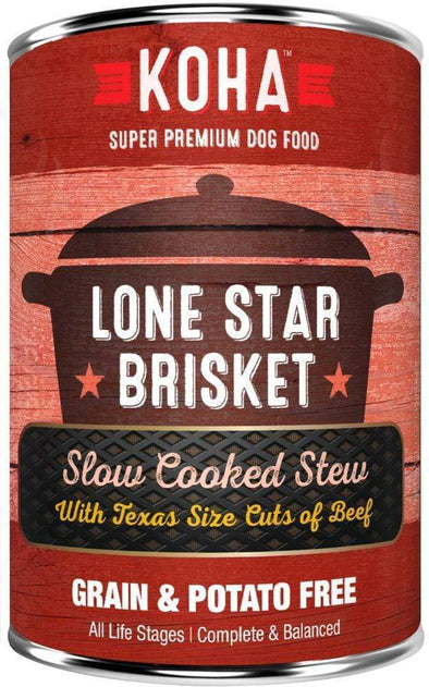 KOHA Grain & Potato Free Lone Star Brisket Slow Cooked Stew with Beef Single Canned Dog Food