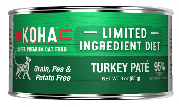 KOHA Grain & Potato Free Limited Ingredient Diet Turkey Pate Canned Cat Food